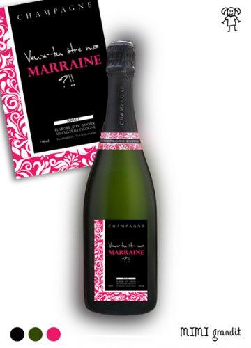 demande en marraine originale champagne