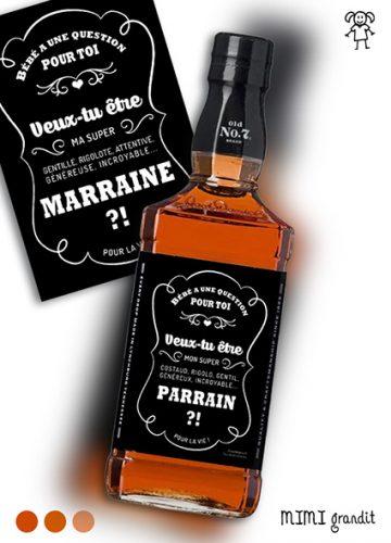 demande en parrain marraine whisky