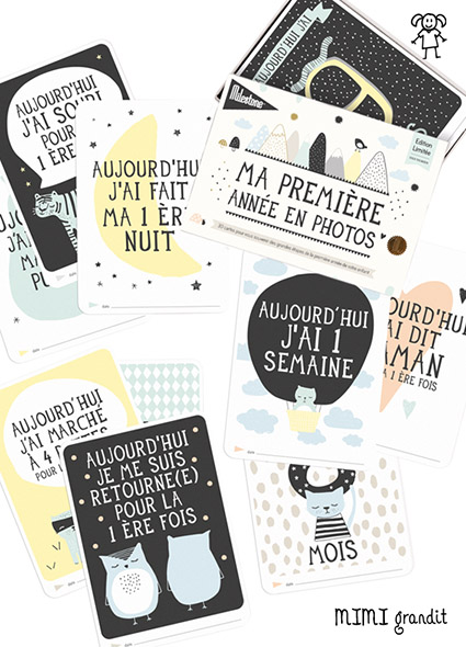 cartes etapes bebe milestone cards overthemoon 2