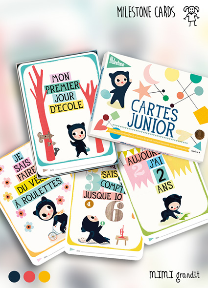 cartes junior milestone cards