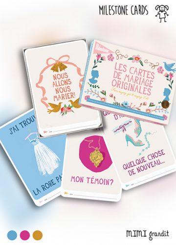 cartes mariage milestone