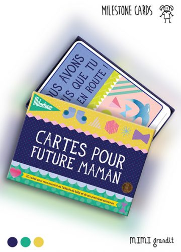 Cartes étapes grossesse future maman milestone
