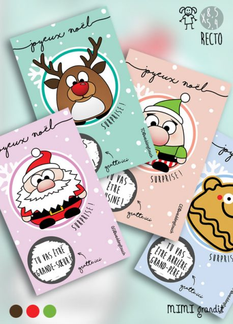 annonce grossesse tickets gratter collection noel