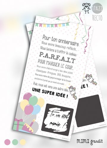 carte a gratter annonce grossesse anniversaire grossesse