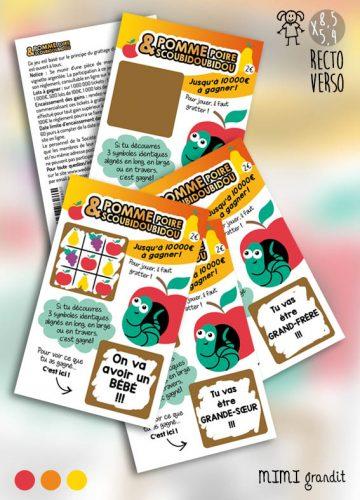 tickets à gratter pommepoirescoubidoubidou