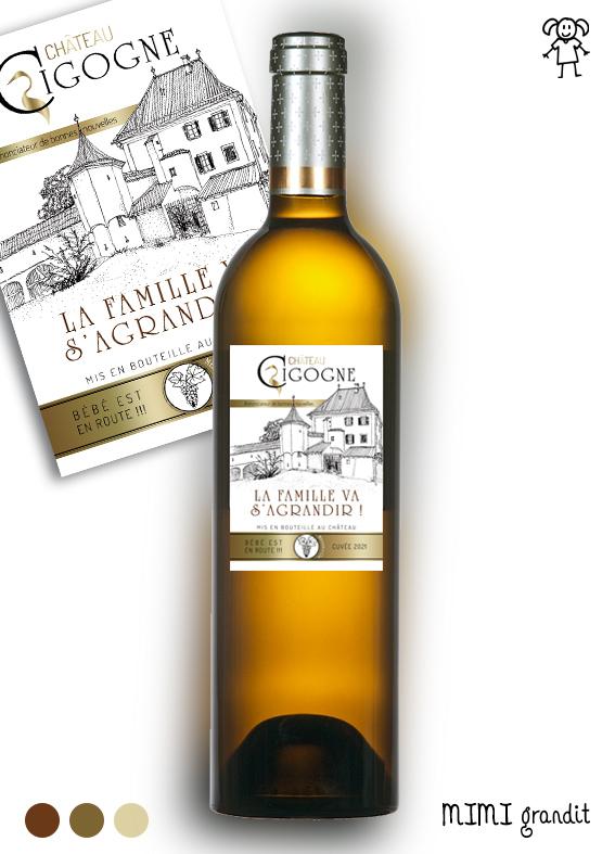 étiquette Vin Château Cigogne Version 2