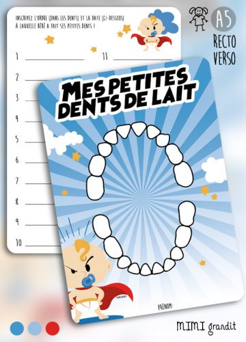 Dents lait bébé superhero
