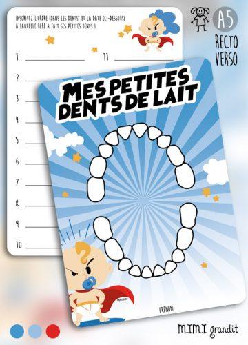 Dents lait bébé superhero