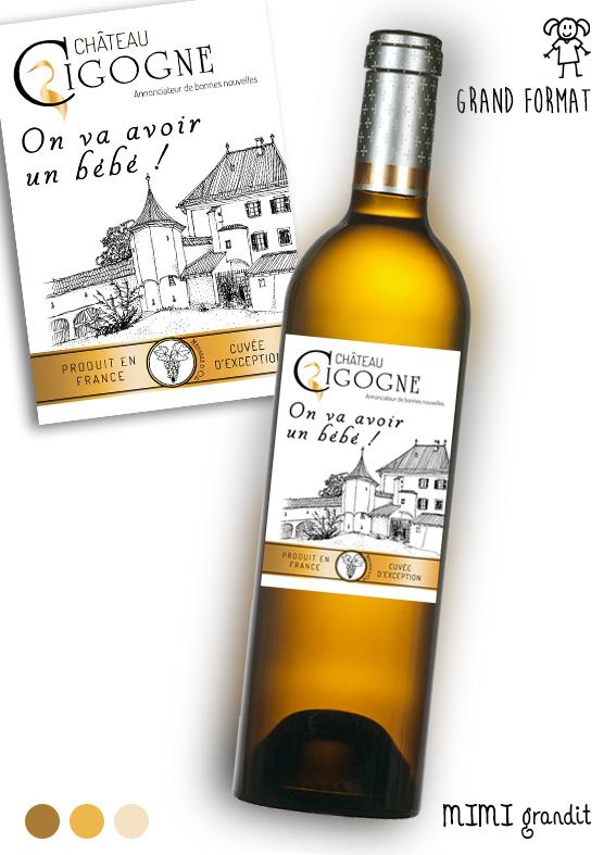 Etiquette Vin Annonce Bebe A La Famille Cadeau Original A Offrir Grossesse