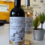 etiquette annonce grossesse vin grand format