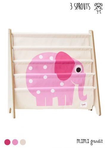 rangement pour livres 3 sprouts éléphant
