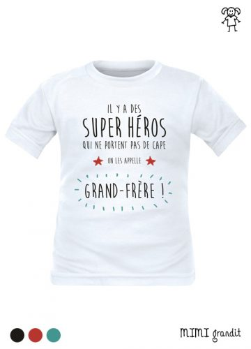 tee shirt enfant grand frere super heros