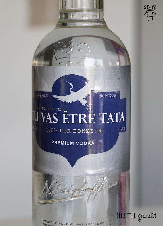 annonce grossesse vodka photo