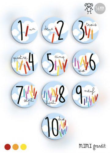 j'apprends les chiffres magnets frigo aimant