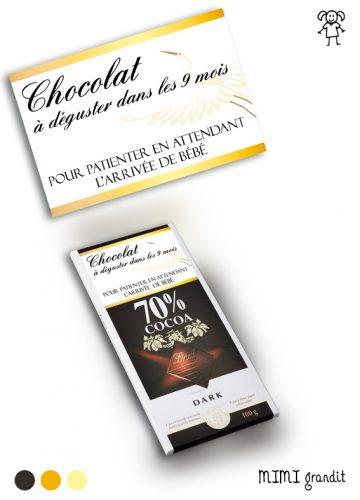 lindt chocolat étiquette annonce grossesse
