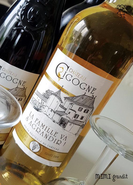 annonce grossesse etiquette vin blanc