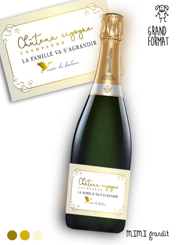 annonce-grossesse-champagne-bouteille-étiquette-chateau-cigogne---grand-format