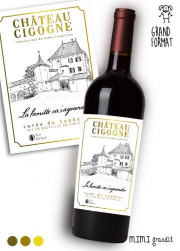 annonce-grossesse-vin-bouteille-étiquette-chateau-cigogne version-2