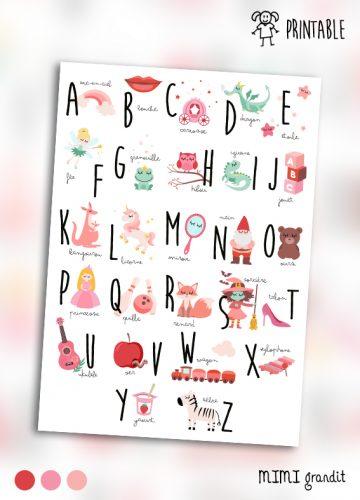 abécédaire-poster-rose