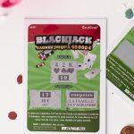 annonce-grossesse-tickets-à-gratter-BlackJack-réalistephoto