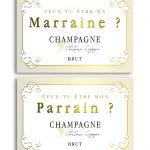 champagne parrain a imprimer