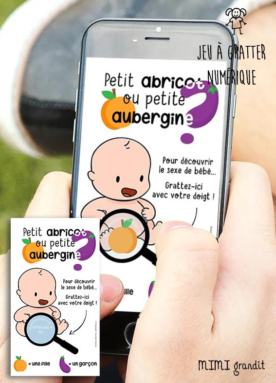 carte-a-gratter-numérique-annonce-sexe-bebe-abricot-aubergine