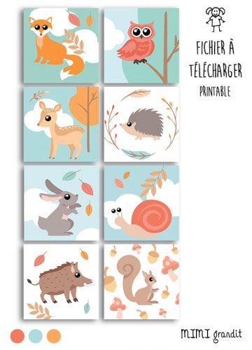 magnets-animaux-de-la-foret-a-imprimer