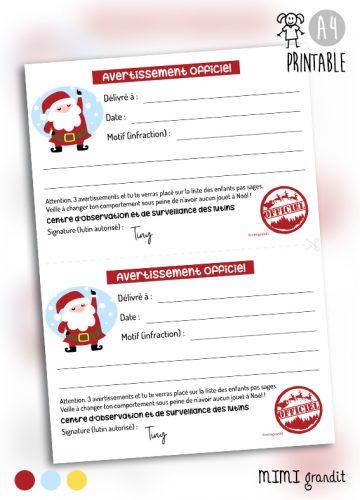 PRINTABLE-message-avertissement-du-père-Noël