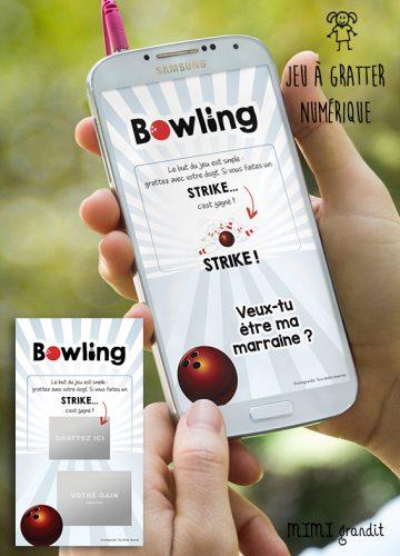demande-marraine-virtuelle-parrain-carte-a-gratter-bowling-numérique