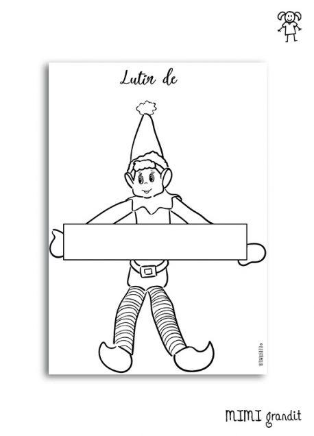 Coloriage Lutin De Noel Idee Betise Elfe Imprimable Fichier Gratuit