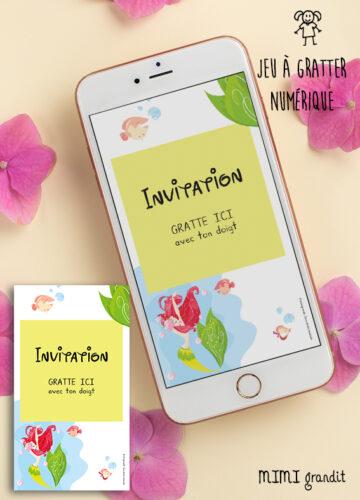 carte-invitation-virtuelle-anniversaire-enfant-fille-sirène