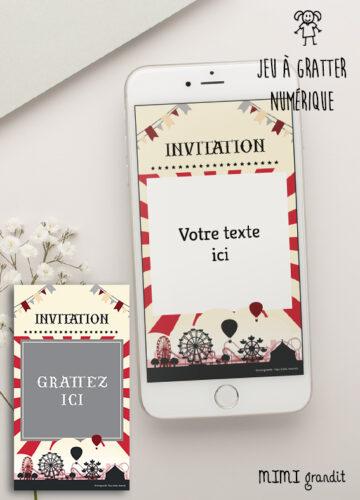 invitation-anniversaire-baby-shower-virtuelle-fete-forraine-enfant