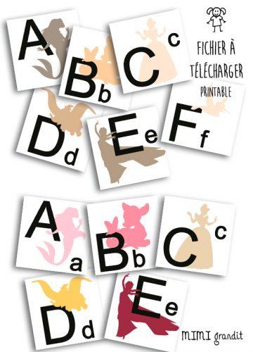 magnets-abécédaire-disney-à-télécharger-beige-rose-à-imprimer