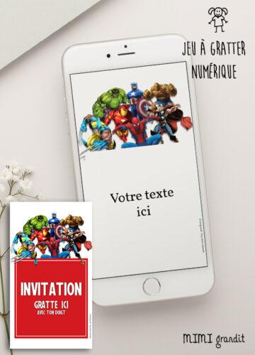 Carte-a-gratter-invitation-anniversaire-numérique-marvel