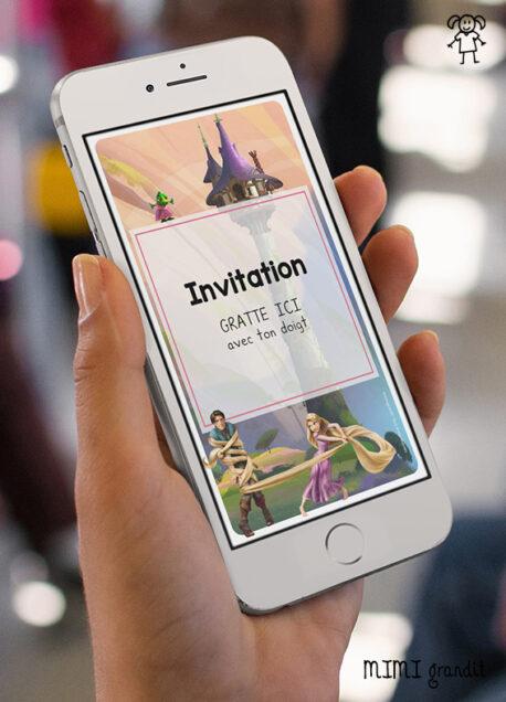 carte-invitation-virtuelle-anniversaire-enfant-disney-raiponce 2