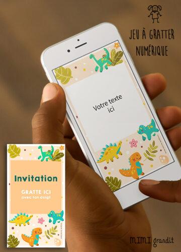carte-invitation-virtuelle-anniversaire-dinosaure