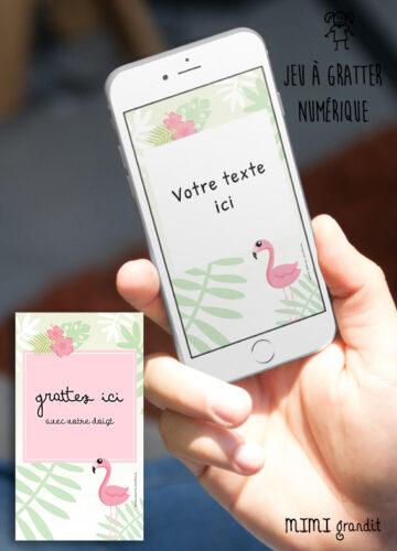 carte-numerique-personnalisable-invitation-a-gratter-flamant-rose
