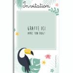 invitation-anniversaire-bapteme-mariage-virtuelle-jungle 2
