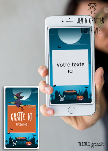 carte-virtuelle-numerique-invitation-halloween-sur-telephone-sorciere