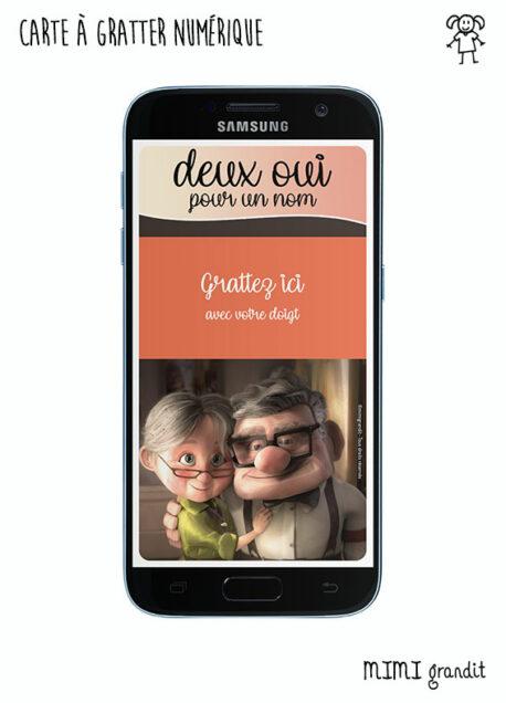 save-the-date-virtuel-digital-carte-a-gratter-la-haut-disney-sur-telephone