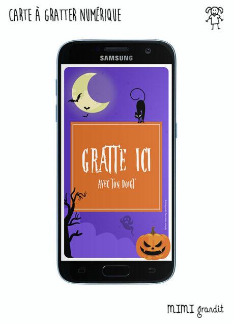 invitation-carte-gratter-halloween-virtuelle-telephone-sms