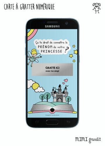 carte-annonce-prénom-fille-princesse-a-gratter-sur-telephone