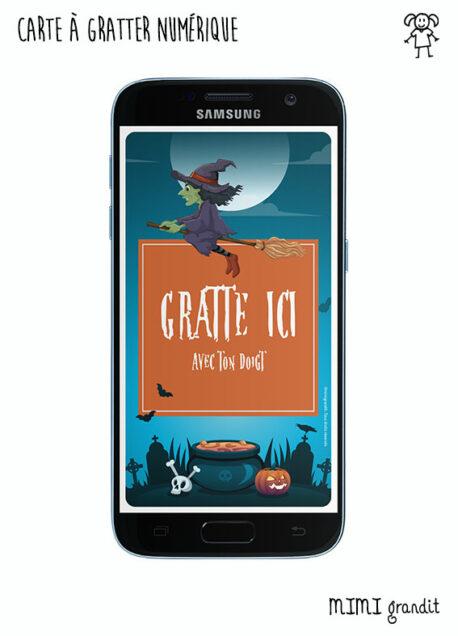 carte-virtuelle-numerique-invitation-halloween-sur-telephone-sorciere-sms