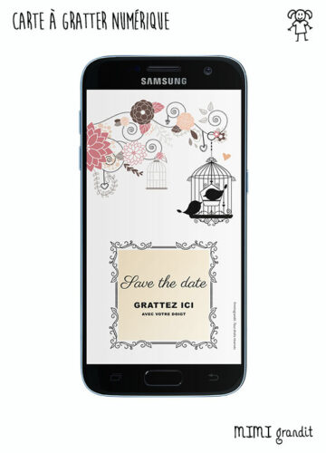 save-the-date-virtuel-mariage-bapteme-anniversaire-boheme-rose